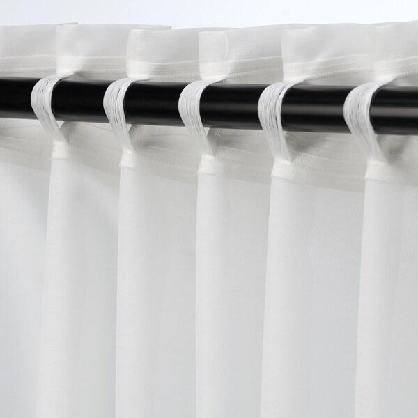 HILJA závěsy, 1 pár bílá 300 cm 145 cm 1.03 kg 4.35 m² 2 ks