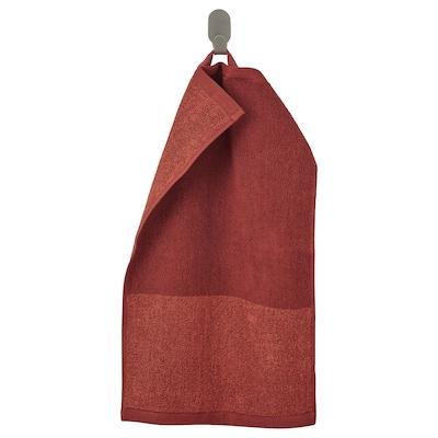 HIMLEÅN Ručník, hnědočervený/melanž, 30x50 cm