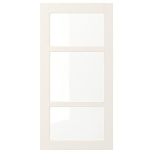 HITTARP prosklené dveře krémová 39.7 cm 79.7 cm 1.8 cm