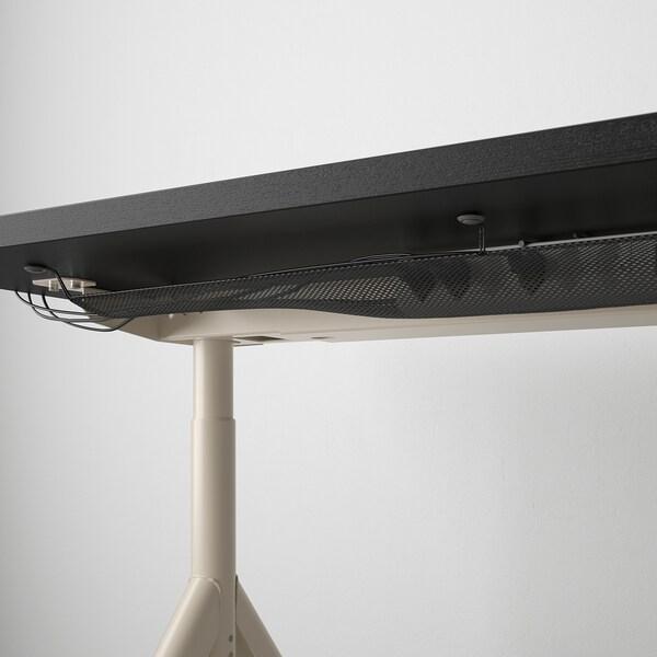 IDÅSEN Psací stůl, černá/béžová, 120x70 cm