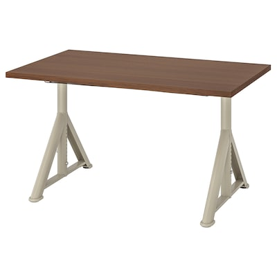 IDÅSEN Psací stůl, hnědá/béžová, 120x70 cm