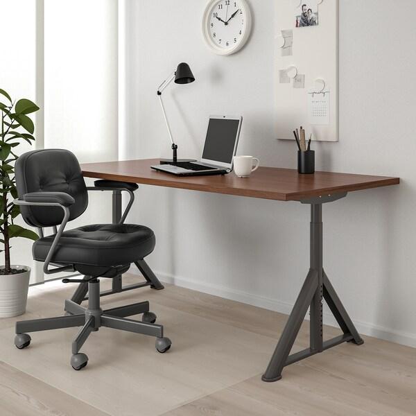 IDÅSEN Psací stůl, hnědá/tmavě šedá, 160x80 cm