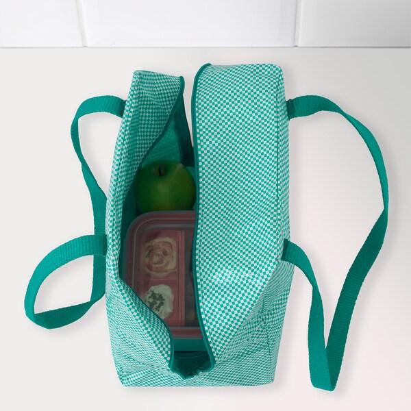IKEA 365+ taška na obědy zelená 22 cm 17 cm 30 cm