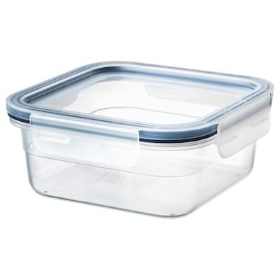 IKEA 365+ Dóza na potraviny s víkem, čtvercový/plast, 750 ml