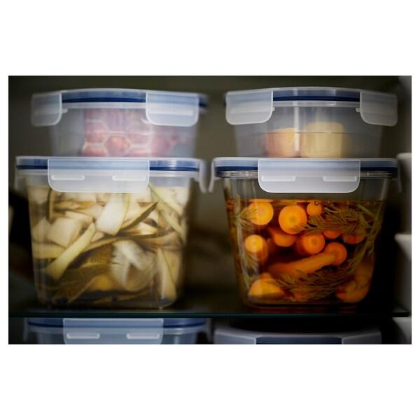 IKEA 365+ Dóza na potraviny s víkem, obdélník/plast, 2.0 l