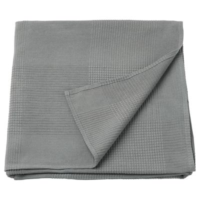 INDIRA Přehoz na postel, šedá, 230x250 cm