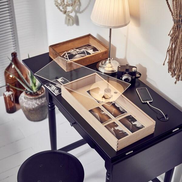 INGATORP Psací stůl, černá, 73x50 cm