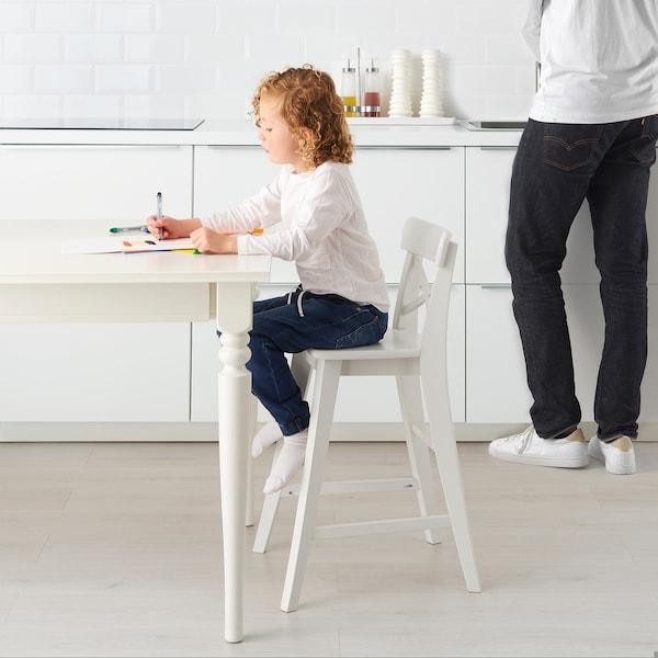 INGOLF Dětská židle, bílá