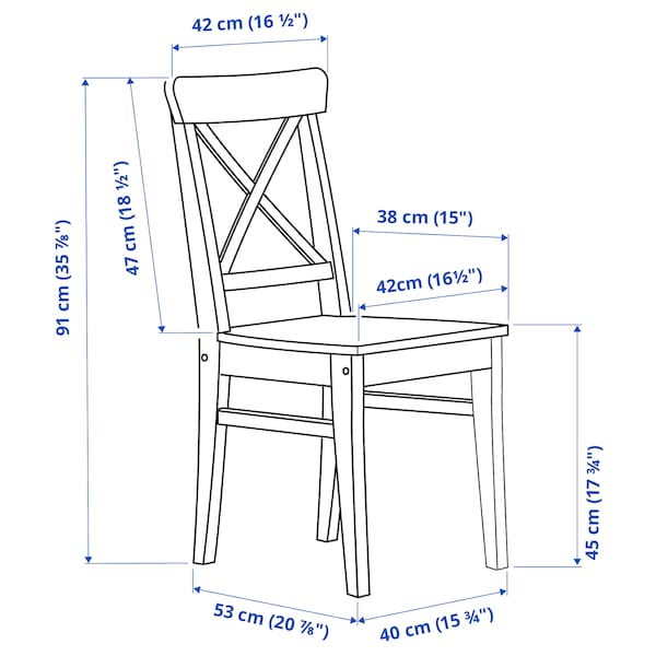 INGOLF Židle, černohnědá