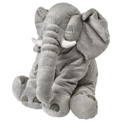 JÄTTESTOR Plyšová hračka, slon/šedá