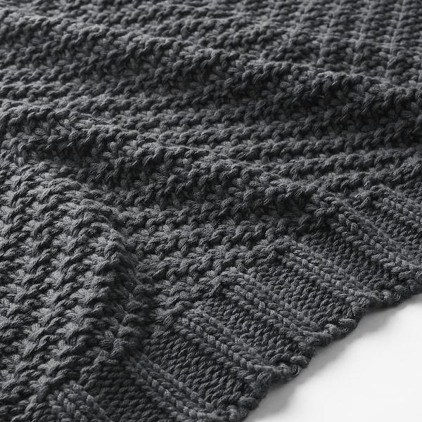 JENNYANN Pléd, tmavě šedá, 130x170 cm