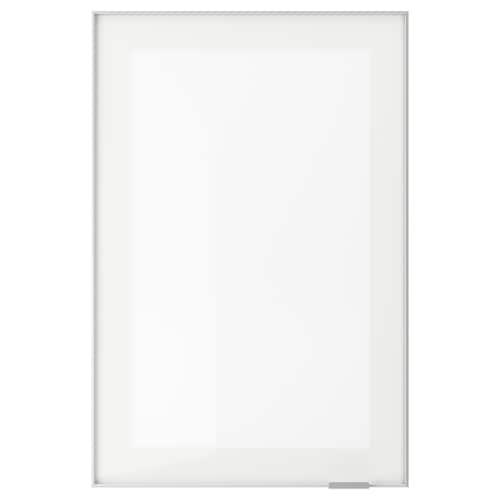 JUTIS prosklené dveře mléčné sklo/hliník 39.7 cm 60 cm 40 cm 59.7 cm 1.8 cm