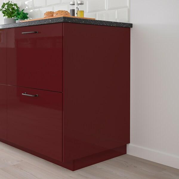KALLARP Krycí panel, lesklá tmavě červeno-hnědá, 62x80 cm