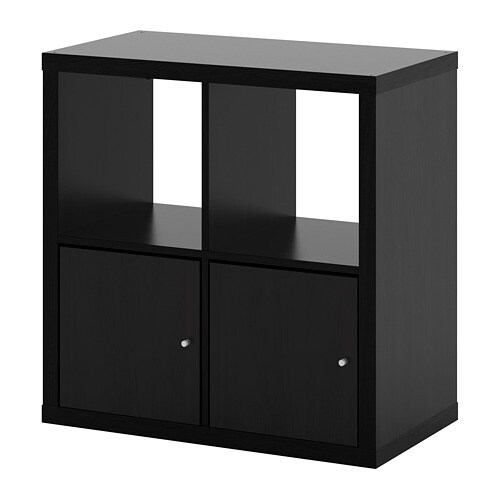 kallax policov d l s dv ky ernohn d ikea. Black Bedroom Furniture Sets. Home Design Ideas