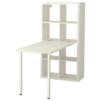 KALLAX Psací stůl s úložným prostorem, bílá, 77x147x159 cm
