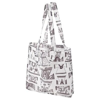 KARISMATISK Nákupní taška, bílá/černá, 15 l