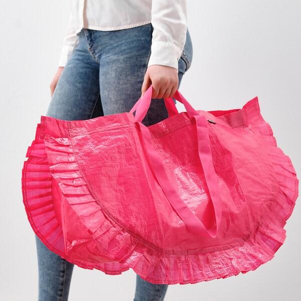 KARISMATISK Nákupní taška, velká, růžová, 60 l