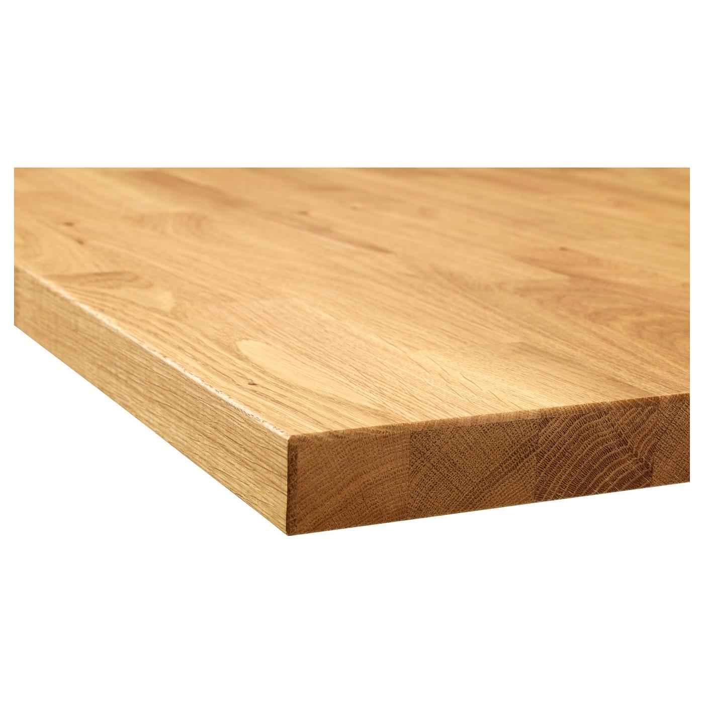 KARLBY pracovní deska na míru dub/dýha 3 mm 100 cm 10 cm 400 cm 45.1 cm 63.5 cm 3.8 cm
