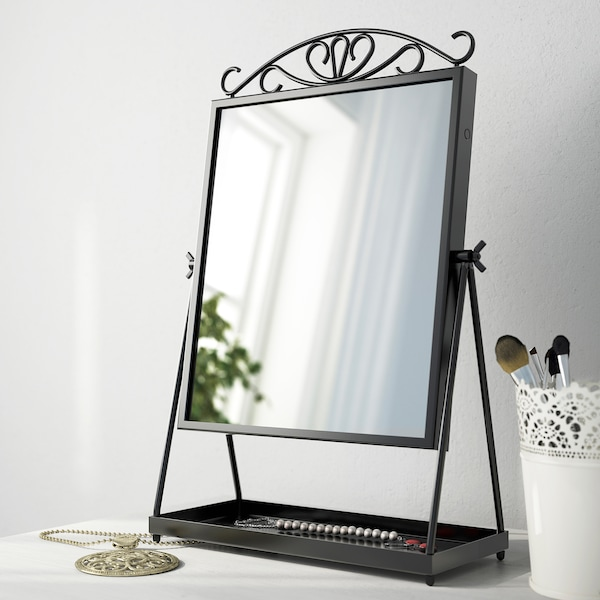 KARMSUND Stolní zrcadlo, černá, 27x43 cm