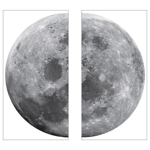 KINNARED samolepicí dekorace měsíc 58 cm