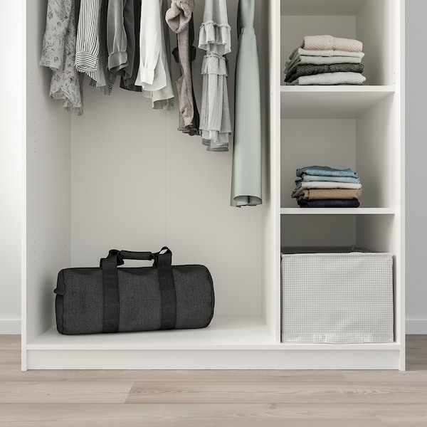 KLEPPSTAD šatní skříň se 3 dveřmi bílá 117 cm 55 cm 176 cm