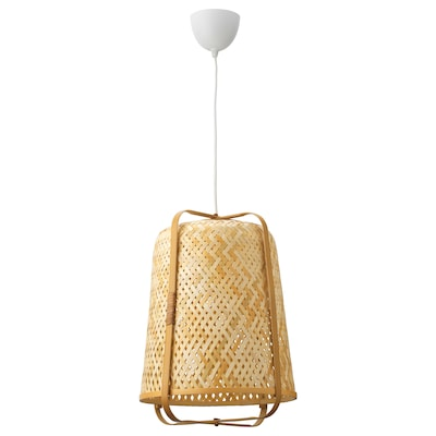 KNIXHULT závěsná lampa bambus 13 W 53 cm 40 cm 1.6 m