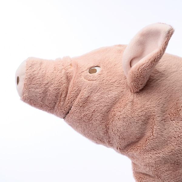 KNORRIG Plyšová hračka, prase/růžová