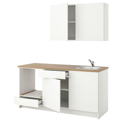 KNOXHULT Kuchyně, bílá, 180x61x220 cm