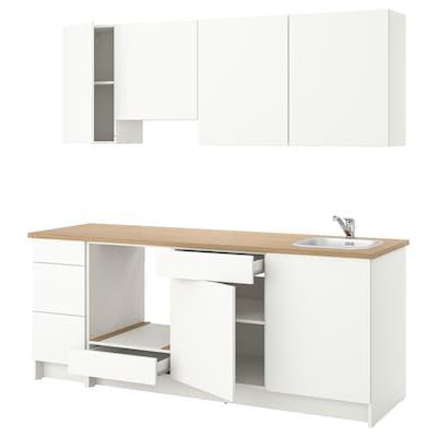 KNOXHULT Kuchyně, bílá, 220x61x220 cm