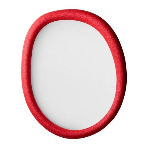 KNYTTA Rám, oválné, červená Šířka: 47 cm Výška: 58 cm Obraz, šířka: 40 cm Obraz, výška: 50 cm