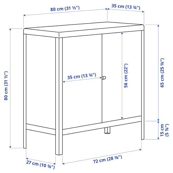KOLBJÖRN Skříňka vnitřní/venkovní, béžová, 80x81 cm