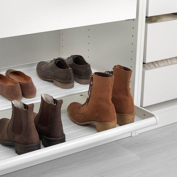 KOMPLEMENT výsuvná police na boty bílá 42.9 cm 50 cm 56.4 cm 16.5 cm 58 cm 16 kg