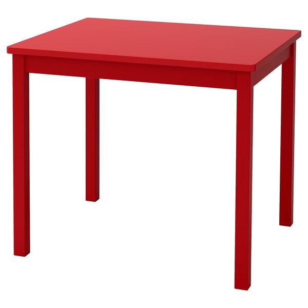 KRITTER dětský stůl červená 59 cm 50 cm 50 cm