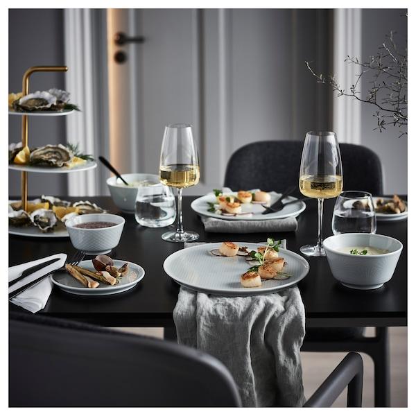 KRUSTAD Dezertní talíř, světle šedá, 16 cm
