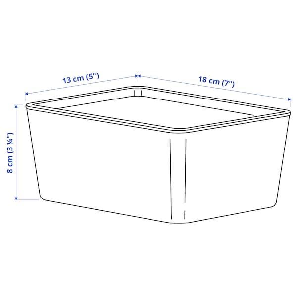 KUGGIS Krabice s víkem, bílá, 13x18x8 cm