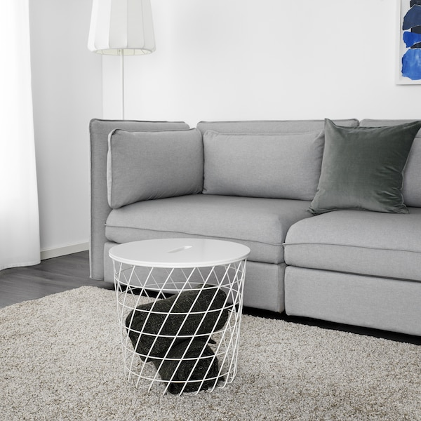 KVISTBRO Stolek s úlož.prostorem, bílá, 44 cm