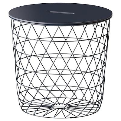 KVISTBRO stolek s úlož.prostorem tm.modrá 42 cm 44 cm