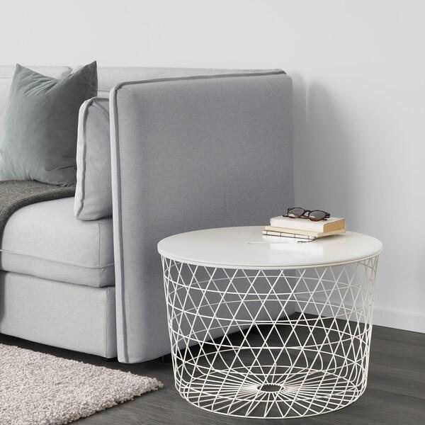 KVISTBRO stolek s úlož.prostorem bílá 42 cm 61 cm
