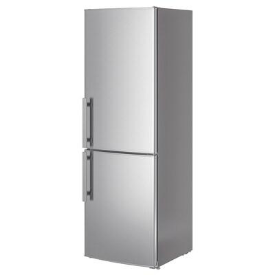 KYLSLAGEN chladnička/mraznička nerezavějící ocel 59.5 cm 67.7 cm 184.5 cm 2.2 m 220 l 91 l 76 kg