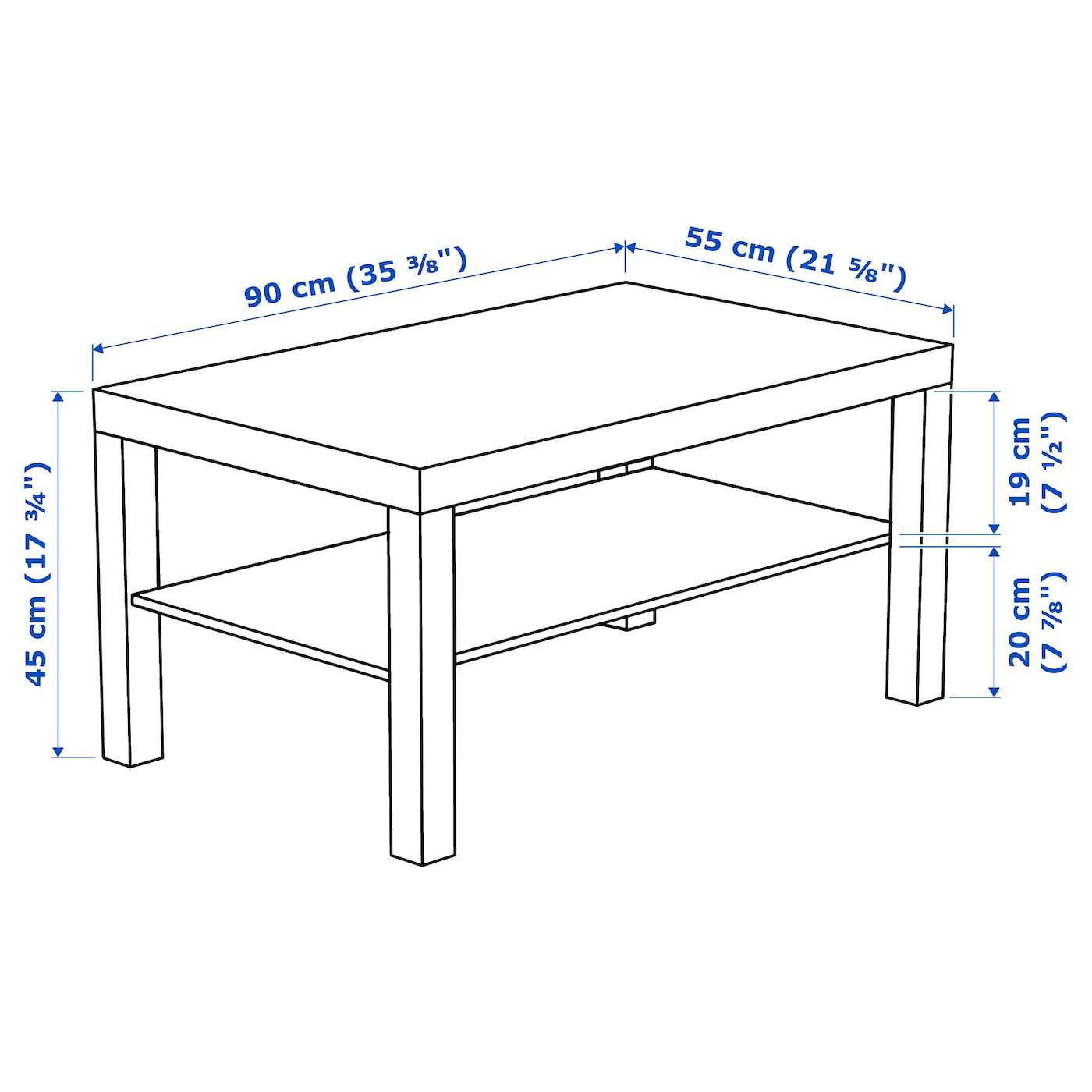 Lack Konferencni Stolek Cernohneda 90x55 Cm Ikea [ 1400 x 1400 Pixel ]