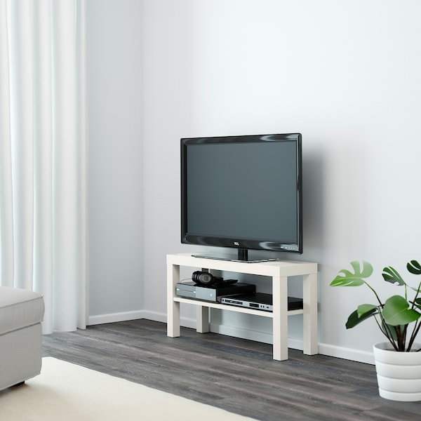 LACK TV stolek, bílá, 90x26x45 cm