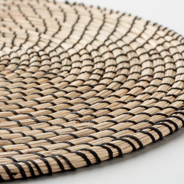 LÄTTAD Prostírání, mořská tráva/černá, 37 cm