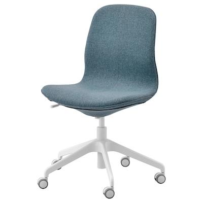 LÅNGFJÄLL Kancelářská židle, Gunnared modrá/bílá
