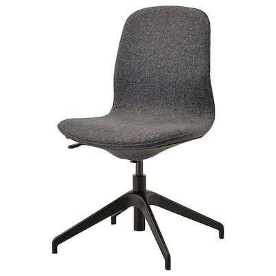 LÅNGFJÄLL Konferenční židle, Gunnared tmavě šedá/černá