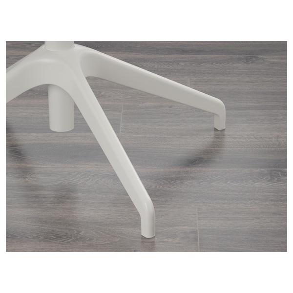 LÅNGFJÄLL Konferenční židle s područkami, Gunnared tmavě šedá/bílá