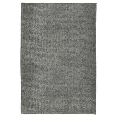 LANGSTED Koberec, nízký vlas, světle šedá, 60x90 cm