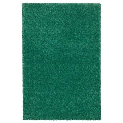 LANGSTED Koberec, nízký vlas, zelená, 60x90 cm