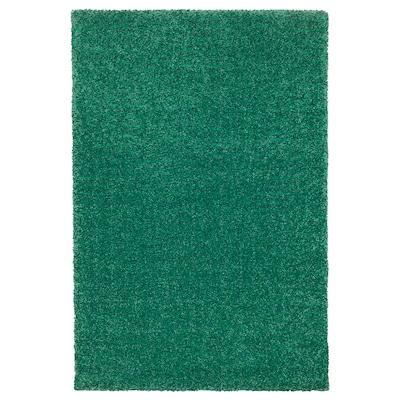 LANGSTED koberec, nízký vlas zelená 195 cm 133 cm 13 mm 2.59 m² 2500 g/m² 1030 g/m² 9 mm