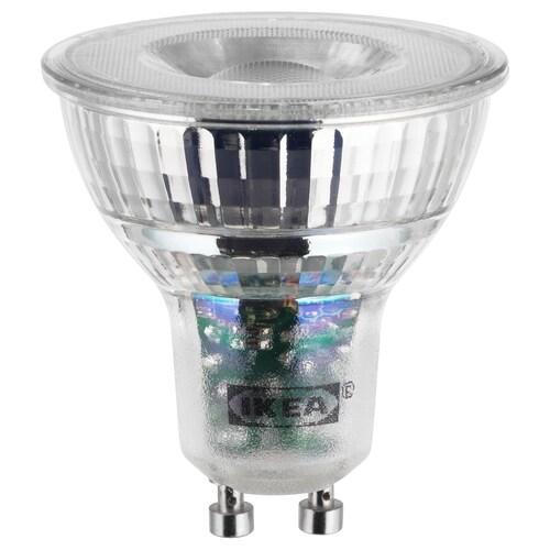 LEDARE žárovka LED, GU10, 400 lumenů stmívání v teplých barvách 400 lm