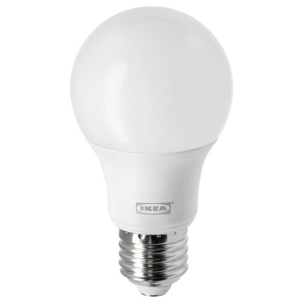 LEDARE Žárovka LED, E27, 806 lumenů, stmívání v teplých barvách/kulatá opálově bílá